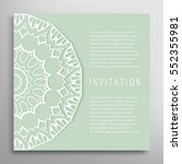 invitation or card template... | Shutterstock .eps vector #552355981
