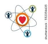social relations conceptual... | Shutterstock .eps vector #552356635