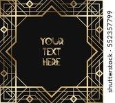 vintage retro style invitation... | Shutterstock .eps vector #552357799