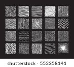 hand drawn textures and brushes.... | Shutterstock .eps vector #552358141