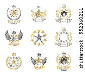 stars emblems set. heraldic... | Shutterstock .eps vector #552360211