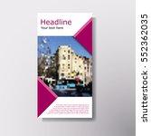 abstract brochure layout vector ...   Shutterstock .eps vector #552362035