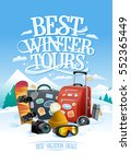 best winter tours design... | Shutterstock .eps vector #552365449