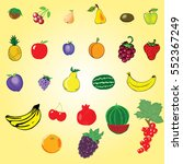 fruit set | Shutterstock .eps vector #552367249