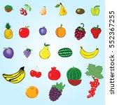 fruit set | Shutterstock .eps vector #552367255