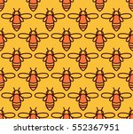 seamless pattern with orange... | Shutterstock .eps vector #552367951