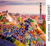 Park Guell Colors In Barcelona  ...