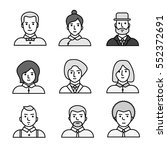 vector people icons set | Shutterstock .eps vector #552372691