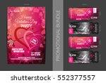 vector happy valentine's day...   Shutterstock .eps vector #552377557