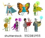 powerful magician role... | Shutterstock .eps vector #552381955