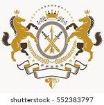 classy emblem  vector heraldic...   Shutterstock .eps vector #552383797