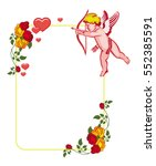 cupid with bow hunting for...   Shutterstock .eps vector #552385591