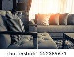 contemporary interior of living ... | Shutterstock . vector #552389671