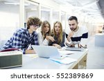 crew of international male and... | Shutterstock . vector #552389869