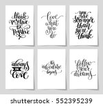 set of 6 hand written lettering ... | Shutterstock .eps vector #552395239
