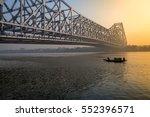 howrah bridge   the historic...   Shutterstock . vector #552396571
