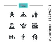 people  family icons. swimming... | Shutterstock . vector #552396745