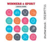 winners and sport icons. winner ... | Shutterstock . vector #552397711