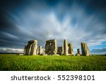 Stonehenge On A Sunny And Wind...