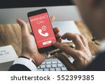 emergency call urgent... | Shutterstock . vector #552399385