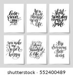 set of 6 hand written lettering ... | Shutterstock . vector #552400489