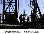 drilling exploration  the oil... | Shutterstock . vector #552400831