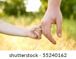 trust family hands of child son ... | Shutterstock . vector #55240162