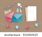 love letter invitation card... | Shutterstock .eps vector #552403525