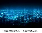 abstract digital signature over ... | Shutterstock . vector #552405931