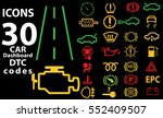 30 icons car vector... | Shutterstock .eps vector #552409507