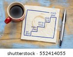 setting and reaching goal in... | Shutterstock . vector #552414055