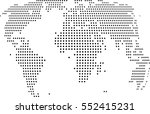 3d dotted abstract world map | Shutterstock .eps vector #552415231