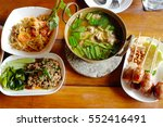 food of northeast thailand | Shutterstock . vector #552416491