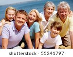 portrait of big happy family... | Shutterstock . vector #55241797