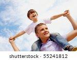 portrait of happy man holding... | Shutterstock . vector #55241812