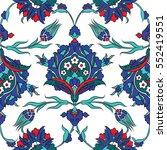 turkish iznik tile  vector and... | Shutterstock .eps vector #552419551