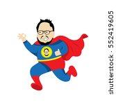 fat man  hero vector character ... | Shutterstock .eps vector #552419605