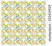 vector colors geometry vintage... | Shutterstock .eps vector #552419929