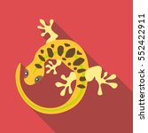 spotted lizard icon. flat... | Shutterstock .eps vector #552422911