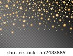 abstract golden starfall effect ... | Shutterstock .eps vector #552438889