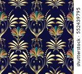 vintage seamless pattern.  | Shutterstock .eps vector #552439795