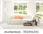 white room with sofa and green... | Shutterstock . vector #552441241