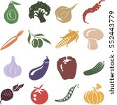 vegetable set. vector... | Shutterstock .eps vector #552443779
