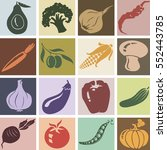 vegetables icons set. colorful... | Shutterstock .eps vector #552443785