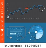 stethoscope design dashboard... | Shutterstock .eps vector #552445357