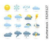 weather icons | Shutterstock .eps vector #55245127