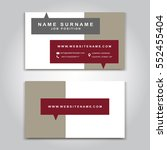 vector business card creative... | Shutterstock .eps vector #552455404