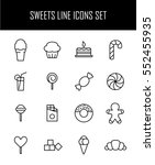 set of sweets icons in modern... | Shutterstock .eps vector #552455935