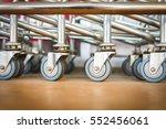 shopping cart wheel  close up ... | Shutterstock . vector #552456061