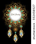 round  jewelry banner made in... | Shutterstock .eps vector #552458527